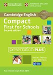 Compact First for Schools - Upper Intermediate (B2): DVD Presentation Plus : Учебна система по английски език - Second Edition - Barbara Thomas, Laura Matthews -
