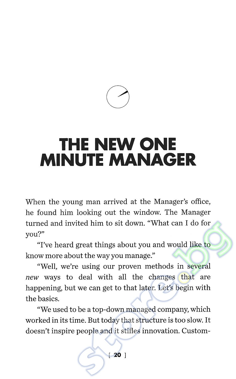 one minute manager Asked by the ceo to give a quick, 10-minute speech here are three things   there is nothing wrong with writing out your speech the mistake.